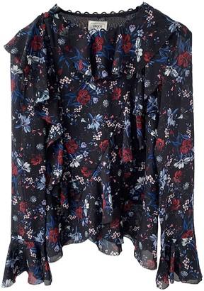 Erdem X H&m Black Silk Top for Women