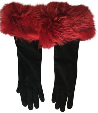 Ralph Lauren Black Suede Gloves