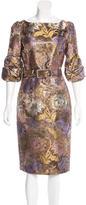Andrew Gn Brocade Midi Dress