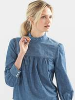 Gap Tie-back chambray top