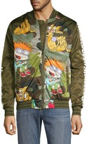 Members Only Cartoon Graphic Bomber Jacket