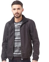 Duck and Cover Mens Scope Zip Through Funnel Neck Jacket Black