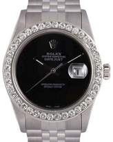 Rolex Datejust Stainless Steel Onyx Dial 2.3ct. Diamond Bezel Automatic 36mm Mens Watch
