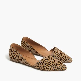 J.Crew Zoe leopard calf hair d'Orsay flats