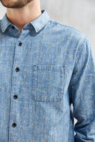Urban Outfitters Printed Ditsy Vine Floral Button-Down Shirt