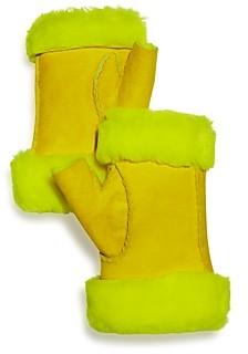Maison Fabre Shearling Fingerless Gloves