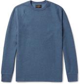 Beams Waffle-Knit Cotton Sweatshirt