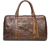 Patricia Nash Burnished Tooled Lace Collection Milano Tasseled Studded Weekender