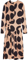 Stella McCartney Polka-dot Silk Midi Dress - Blush