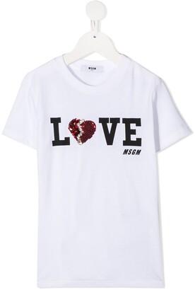 Msgm Kids embellished-logo T-shirt