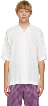 Homme Plissé Issey Miyake White Edge Short Sleeve Shirt