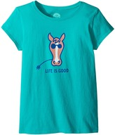 Life is Good Horse Tee Girl's T Shirt