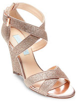 Betsey Johnson Cheryl Gladiator Glitter Wedge Sandals