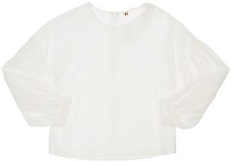 Caroline Bosmans Embroidered Cotton Top