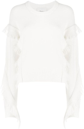 3.1 Phillip Lim Crew Neck Ruffled Fringe Jumper