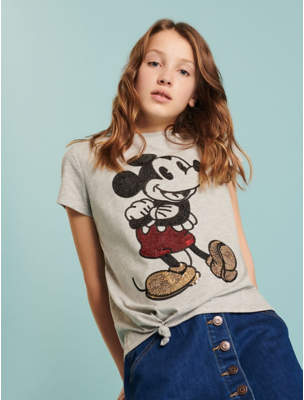 Disney George Mickey Mouse Sequin T-Shirt