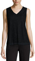 Liz Claiborne Sleeveless V Neck T-Shirt