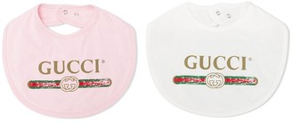 Gucci Kids Logo Two Piece Set Bibs