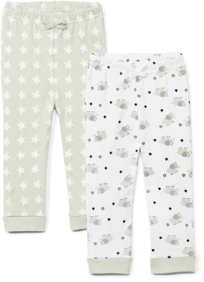 Sweet & Soft Boys' Casual Pants Grey - Gray Elephant & Stars Pant Set - Newborn & Infant