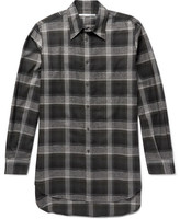 Stella McCartney Oversized Checked Herringbone Cotton-Blend Shirt