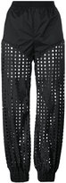 Diesel perforated trousers - women - Nylon/Spandex/Elastane - M