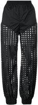 Diesel perforated trousers - women - Nylon/Spandex/Elastane - S