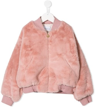 Chiara Ferragni Kids Embroidered Logo Bomber Jacket