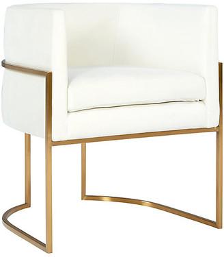 One Kings Lane Fao Side Chair - Cream Velvet