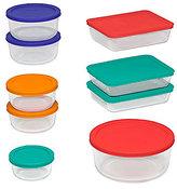 Pyrex 18-Piece Storage Set with Colored Lids