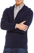 Daniel Cremieux Signature Full-Zip Elbow-Patch Cashmere Hoodie