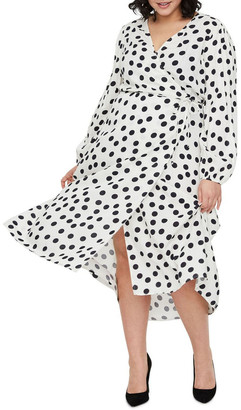 Vero Moda Kayla Long Sleeve 7/8 Wrap Dress
