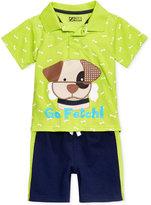Nannette 2-Pc. Go Fetch Polo Shirt & Shorts Set, Baby Boys (0-24 months)