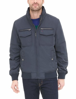 Tommy Hilfiger Men's Big-Tall Polytwill Two Pocket Bomber Jacket
