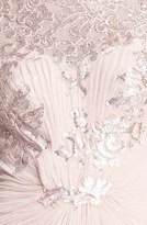 Tadashi Shoji Embellished Draped Gown