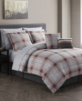 Jessica Sanders CLOSEOUT! Jasper Reversible 12-Pc. Gray Comforter Sets