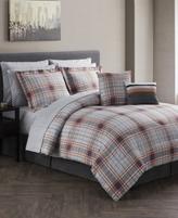 Jessica Sanders Jasper Reversible 12-Pc. Gray Queen Comforter Set