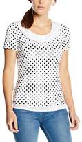 Gerry Weber Women's 443 Short Sleeve T-Shirt - multi-coloured - 12