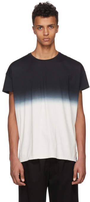 Diet Butcher Slim Skin Black and Grey Gradation T-Shirt