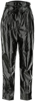 Rotate by Birger Christensen Wilde Faux-Leather Trousers