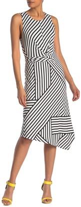 Rachel Roy Anzia Stripe Asymmetrical Hem Dress