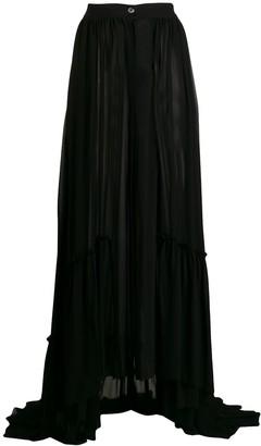 Ann Demeulemeester front button skirt