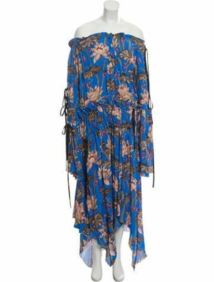 Loewe Ibiza Waterlily Dress Blue