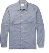 Oliver Spencer Loungewear - Lux Cotton-chambray Overshirt