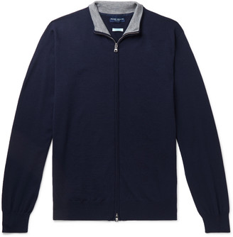 Peter Millar Merino Wool-Blend Zip-Up Sweater