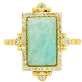 Freida Rothman Women's Amazonite Allure Cocktail Ring