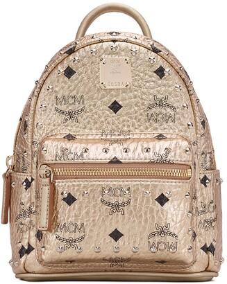 MCM X-Mini Stark Stud Coated Canvas Backpack
