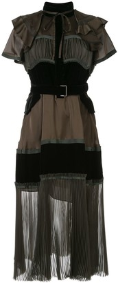 Sacai Panelled Colour Block Dress