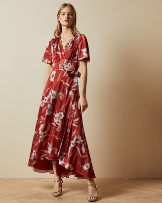 Ted Baker ERRIKA Cabana dip hem wrap dress