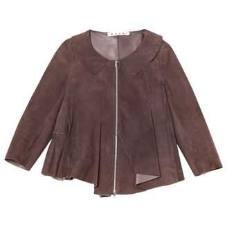 Marni Purple Suede Jackets