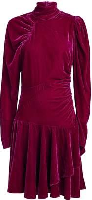 Rotate by Birger Christensen No. 25 Velvet Puff Sleeve Dress